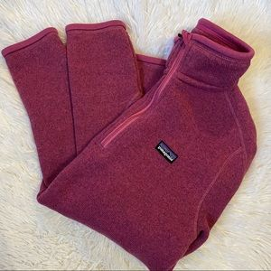 Patagonia purple quarter zip better sweater S